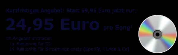 Mastering für CD-Pressung – Angebot
